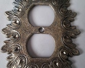 Vintage double outlet Wall Plate  Starburst