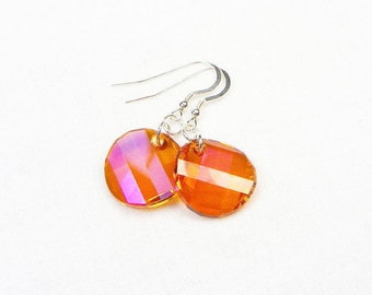 Swarovski Twist Earrings - Dangle Earrings - Gift For Her - Swarovski Crystals - Astral Pink - Sterling Silver - Faceted Crystals