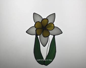 Daffodil Suncatcher in Stained Glass