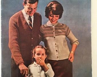 Bernat Raglans Book number 97 1961 vintage knitting pattern booklet
