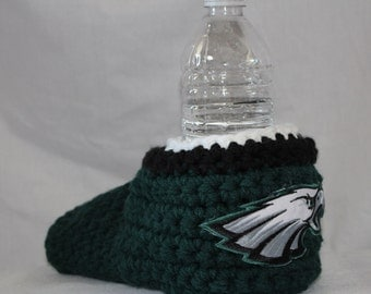 Ready to ship - Philadelphia eagles Drink Mitt  - The mitten with the drink holder - show your team pride