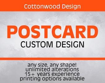 Custom Postcard Design for Business, Event, Wedding, Save the Date, Post Card, EDDM Postcard, Rack Card Design, Custom Design