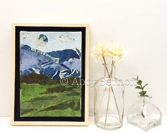 5 x 7 Framed Art - Landscape - Landscape Painting - Canvas Art - Canvas - Colorful Wall Art - Original Artwork