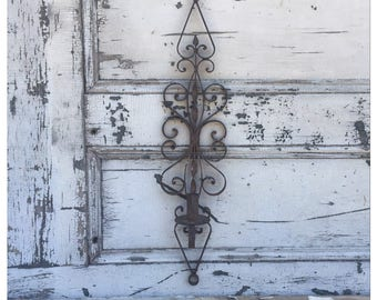 Iron Wall Sconce - Candle Sconce - Wall Sconce - Vintage Wall Sconce - Spanish Revival - Large Wall Sconce - Vintage Sconce - Iron Sconce