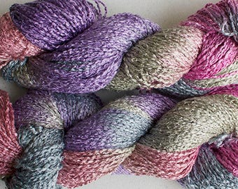 Finch, Hand-dyed Rayon Boucle Yarn, 225 yds - Desert
