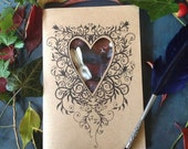 Note book, decorative art, journal, stocking filler,  arty gifts