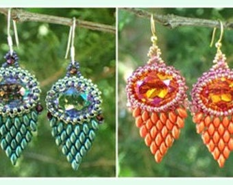 Faux Feather Earrings PDF Jewelry Making Tutorial Pattern (INSTANT DOWNLOAD)