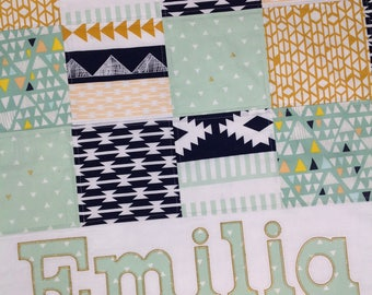 Baby quilt girl | Etsy : handmade baby quilts etsy - Adamdwight.com