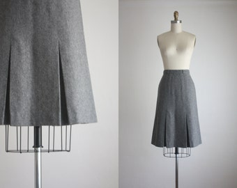 CLEARANCE charcoal pleat skirt