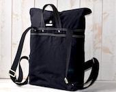 LAST ONE- Black backpack, men backpack,rucksack bag,bike backpack,travel backpack,camping backpack,herringbone wool gift for him