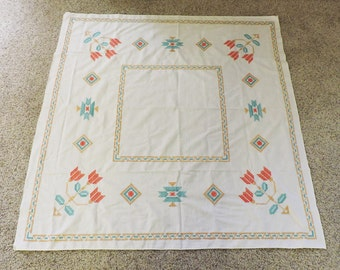 Hand Embroidered Tablecloth Southwest Design