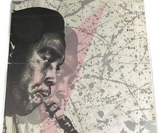 Vintage Charlie Parker Jazz Poster Pink Grey The Best of Bird