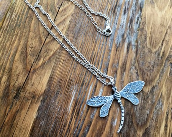 Sterling Silver Dragonfly Necklace Wild Prairie Silver Jewelry Handmade Joy Kruse