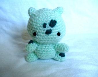 Crochet Bulbasaur Amigurumi Pokemon Stuffed Bulbasaur Toy Plushie Pokemon Go