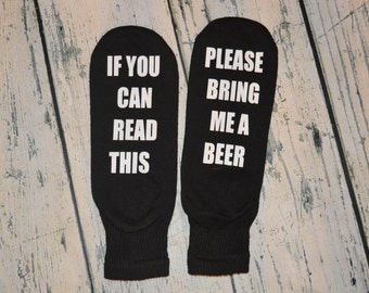 Bring me Beer Socks stocking stuffer gag gift - Beer Ankle Socks