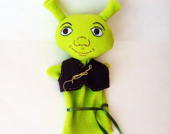 Shrek Hand Puppet - handmade original design- Education Prop - Drama Therapy - Storybook Character Puppet