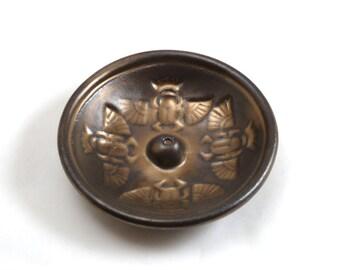 Egyptian Scarab Offering Bowl Handmade STONEWARE Pottery
