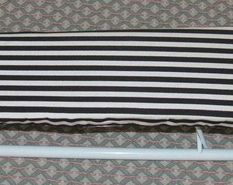 REDUCED Vintage Black and White Striped French Paris apartment Portable Travel Folding Ironing Board