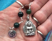 The Loving Kindness Mala in Bloodstone and Silver