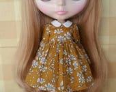 Sweet Little Girl dress for Blythe - Mustard