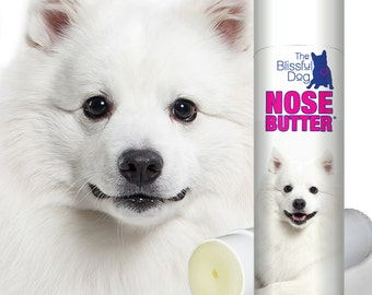 American Eskimo ORIGINAL NOSE BUTTER® Handcrafted All Natural Salve for Dry Crusty Dog Noses .50 oz Tube with American Eskimo label