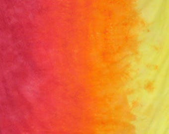 Gradient  Hand Dyed Fabric - Solar Flare
