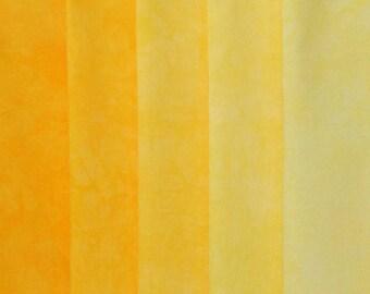 Hand Dyed Fabric - Yellow -  Color Wheel Basics Shades