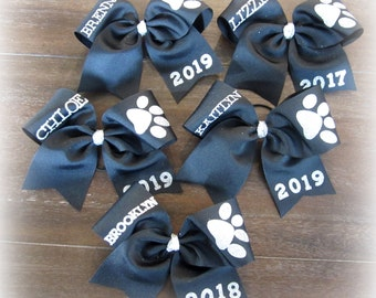 Cheer Bows, Girls Cheer Bows, Personalized Cheer Bow, Cheer Bow with Name, Logo Cheer Bow, Team Bows, Dance Bows, Cheerleader Bow, Monogram