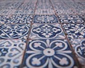 1/12 Scale Downloadable Printable Dollhouse Mediterranean Style Mosaic Patchwork Flooring Wallpaper