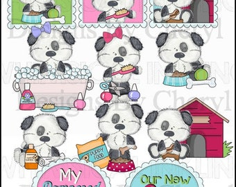 Funny Mutley Pampered Pooch Clipart Collection - Immediate Download