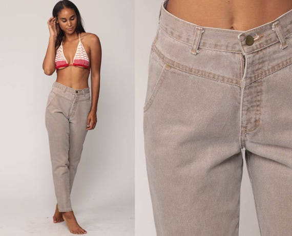Super high waisted denim jeans