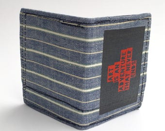 Bifold wallet, men's wallets, recycled wallets, handmade wallets, business card holders, credit card holders