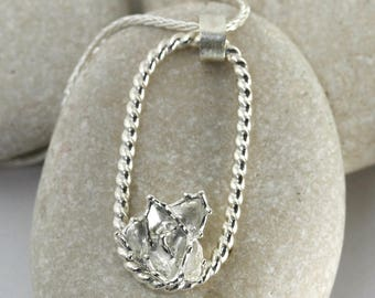 Agave Succulent Necklace in Sterling Silver, Silver Agave Necklace