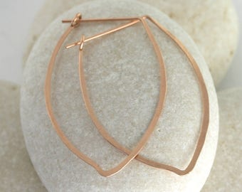 Hammered petal earrings, 14K or gold fill, yellow or rose gold - Ophelia Earring Collection