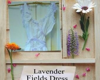 Lavender Fields Gown Bridal White Wedding Dress Custom Boho Cottage Corset Maxi Birdcage Hem Womens Tatteredl