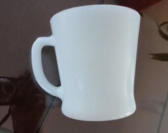 60s Fire King milk glass mug #53