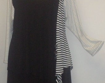 Tunic Plus Size,Plus Size Top, Asymmetric Tunic Top, Women Tunic, Coco and Juan,#5 Knit Size 1 (fits 1X,2X)  Bust 50 inches