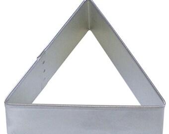 "Triangle cookie cutter, 3"", Delta Greek letter symbol, Harry Potter symbol."
