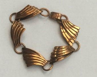 Vintage Modernist Copper Link Bracelet
