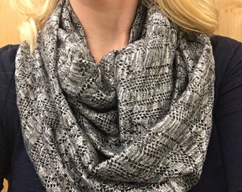 Lacy Charcoal grey Infinity Scarf