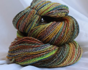 Hand spun 3 ply polworth 116 grams 4.1 oz 388 yards sport weight