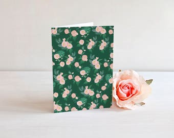Preppy Thank you. Modern Floral Green and Pink Folded Cards with pink envelopes. Floral Thank You Cards. Bridal Shower thank you