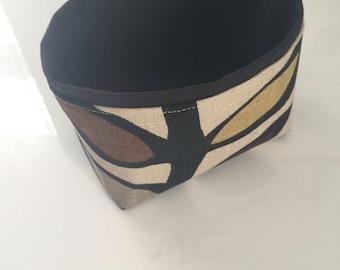 mini fabric bin  // modern // linen storage basket