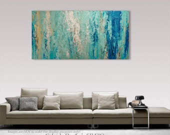 Palette Knife Painting, Modern Painting, Art, LARGE Painting, Wall decor, Wall Art, Canvas Art, Acrylic painting, Art by Gabriela