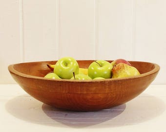 Vintage Wood Bowl Large Size