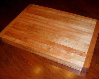 Mahogany Butcher Block Cutting Board