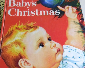 1959 Little Golden Book Baby's First Christmas  Esther and Eloise   Wilkin   Ships Free