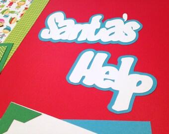Santa Christmas 2 Page Scrapbooking Kit 12x12 Elf Premade Layout