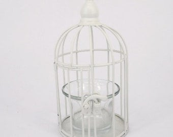 White Candle Cage