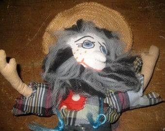 Vintage Hand Made Hillbilly Doll
